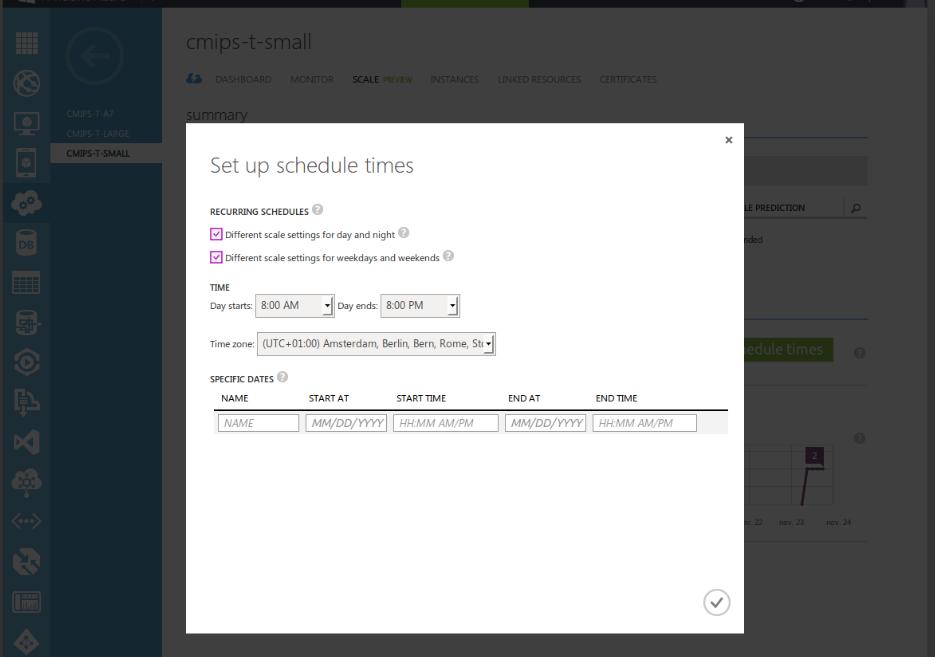 cmips-azure-setup-schedule-times
