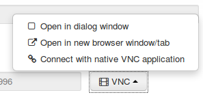 CloudSigma open VNC in a new browser window